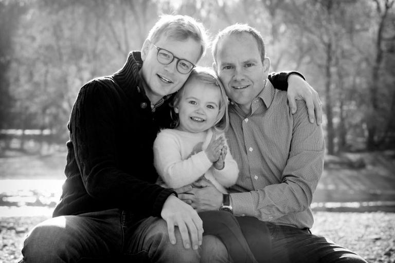 Familienfoto mit Kleinkind