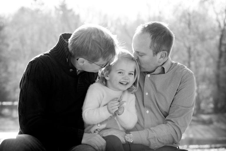 Familienfoto mit Tochter